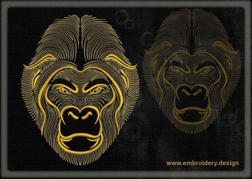 This Portrait of gorilla