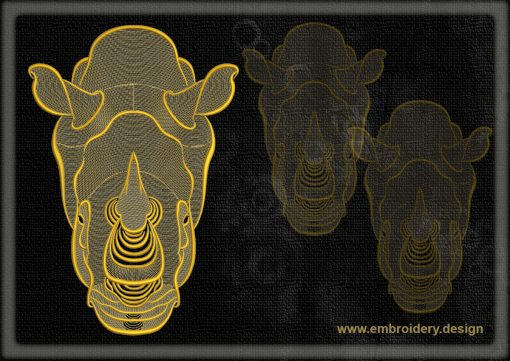 This Portrait of rhinoceros