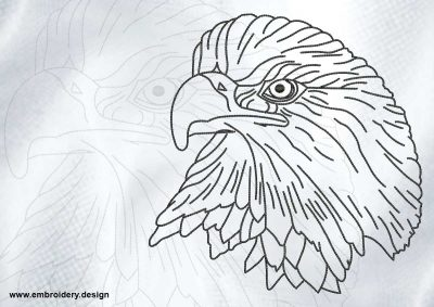 The embroidery design Reasonable eagle