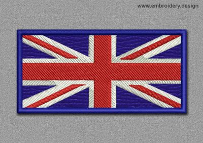 This Flags Patch Dark Blue British Flag design was digitized and embroidered by www.embroidery.design.