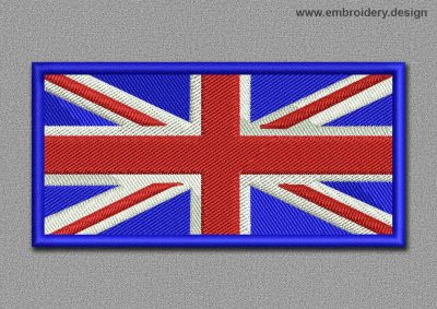 This Flags Patch United Kingdom design was digitized and embroidered by www.embroidery.design.