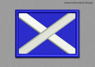 This Flags Patch Scottish Rectangular Flag design was digitized and embroidered by www.embroidery.design.