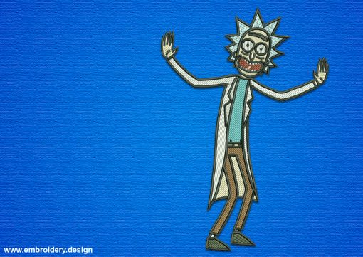 The embroidery design Rick Sanchez has a low number of stitches