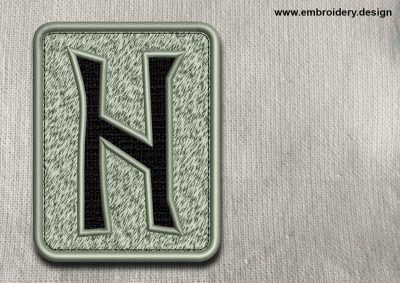 This Rune Hagalaz, transparent background design was digitized and embroidered by www.embroidery.design.