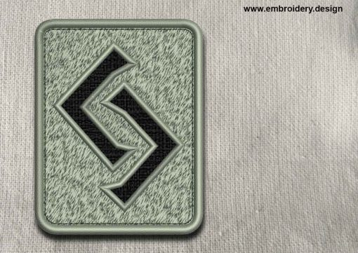 This Rune Jera, transparent background design was digitized and embroidered by www.embroidery.design.