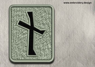 This Rune Nauthiz, transparent background design was digitized and embroidered by www.embroidery.design.