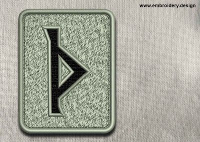 This Rune Thurizas, transparent background design was digitized and embroidered by www.embroidery.design.