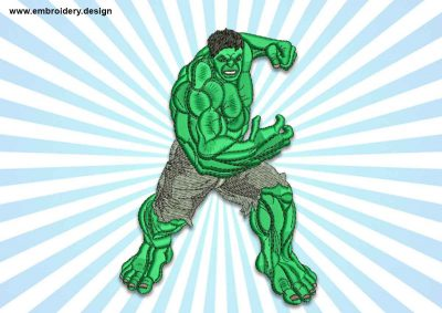 The embroidery design Running hulk
