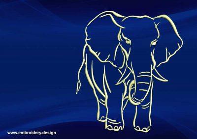The embroidery design Sad tattoo elephant