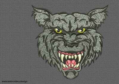 The embroidery design Scathing wolf was digitized in EmbroSoft Studio.
