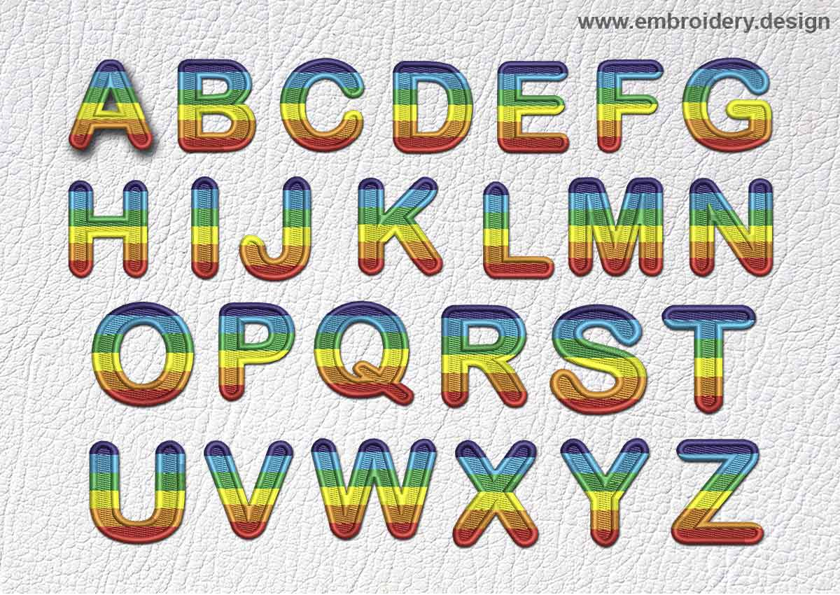 Patch Rainbow Font All English Letters