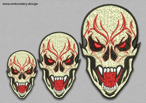 The embroidery design Skull Dracula