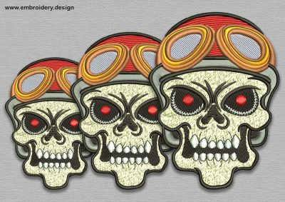 The embroidery design Skull Pilot