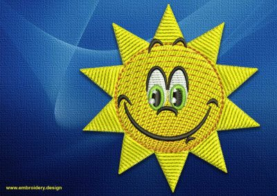 The embroidery design Smiling sun