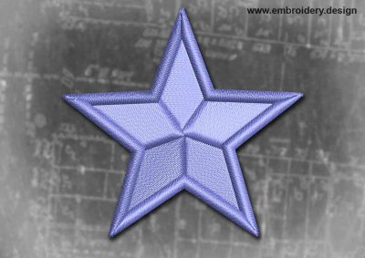 This Spiritual And Occult Patch Blue Star design was digitized and embroidered by www.embroidery.design.
