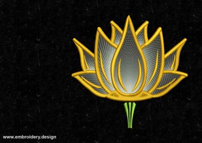 The embroidery design Sparkling lotus