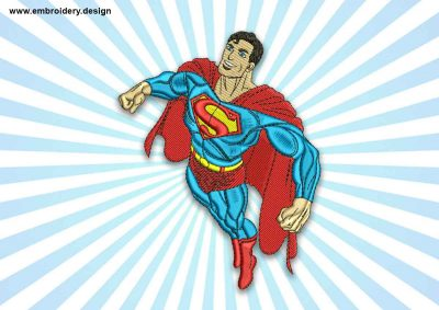 The embroidery design Superman