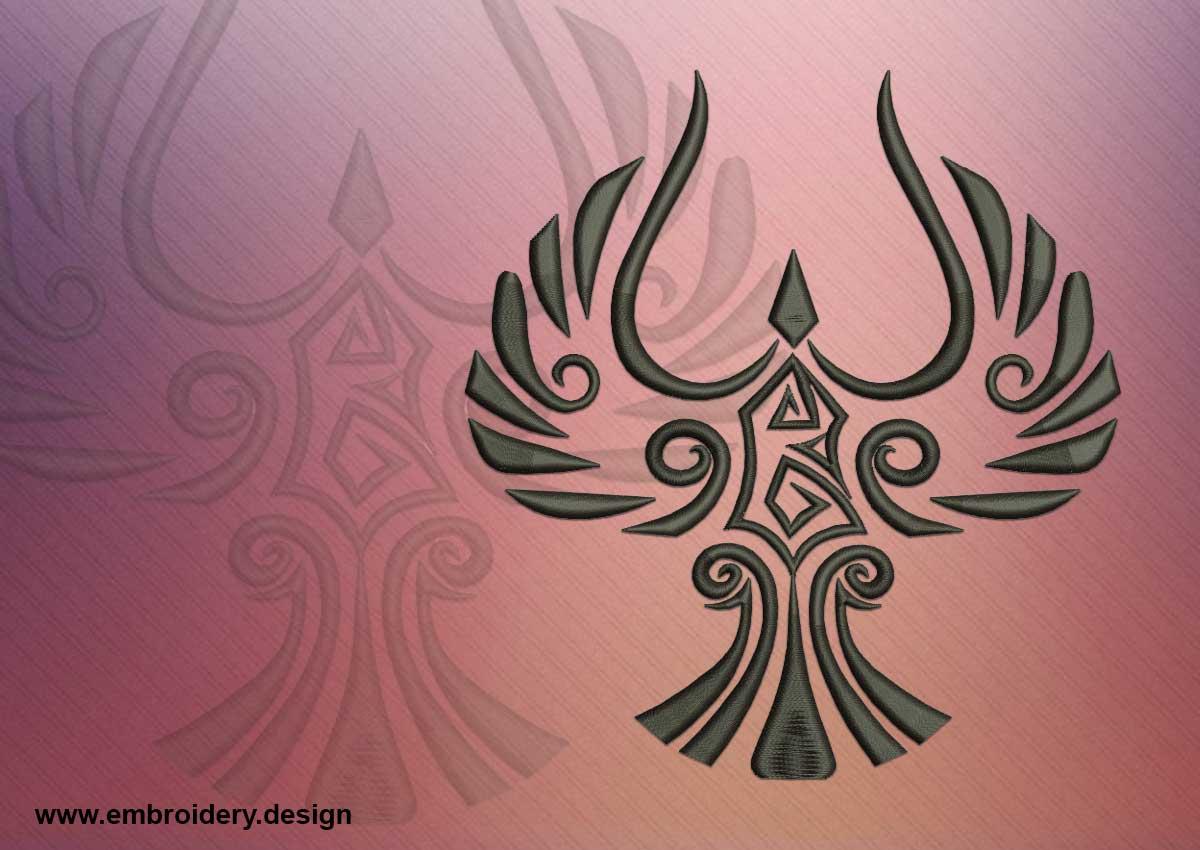 tattoo celtic bird embroidery design. Black Bedroom Furniture Sets. Home Design Ideas