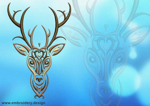 This Portarait of deer tattoo