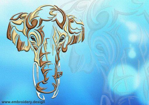 This Portrait of elephant tattoo