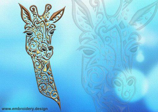 This Portrait of giraffe tattoo