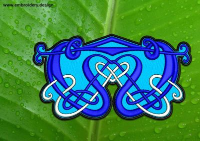 This Traditional Celtic symbol patch, transparent background design was digitized and embroidered by www.embroidery.design.