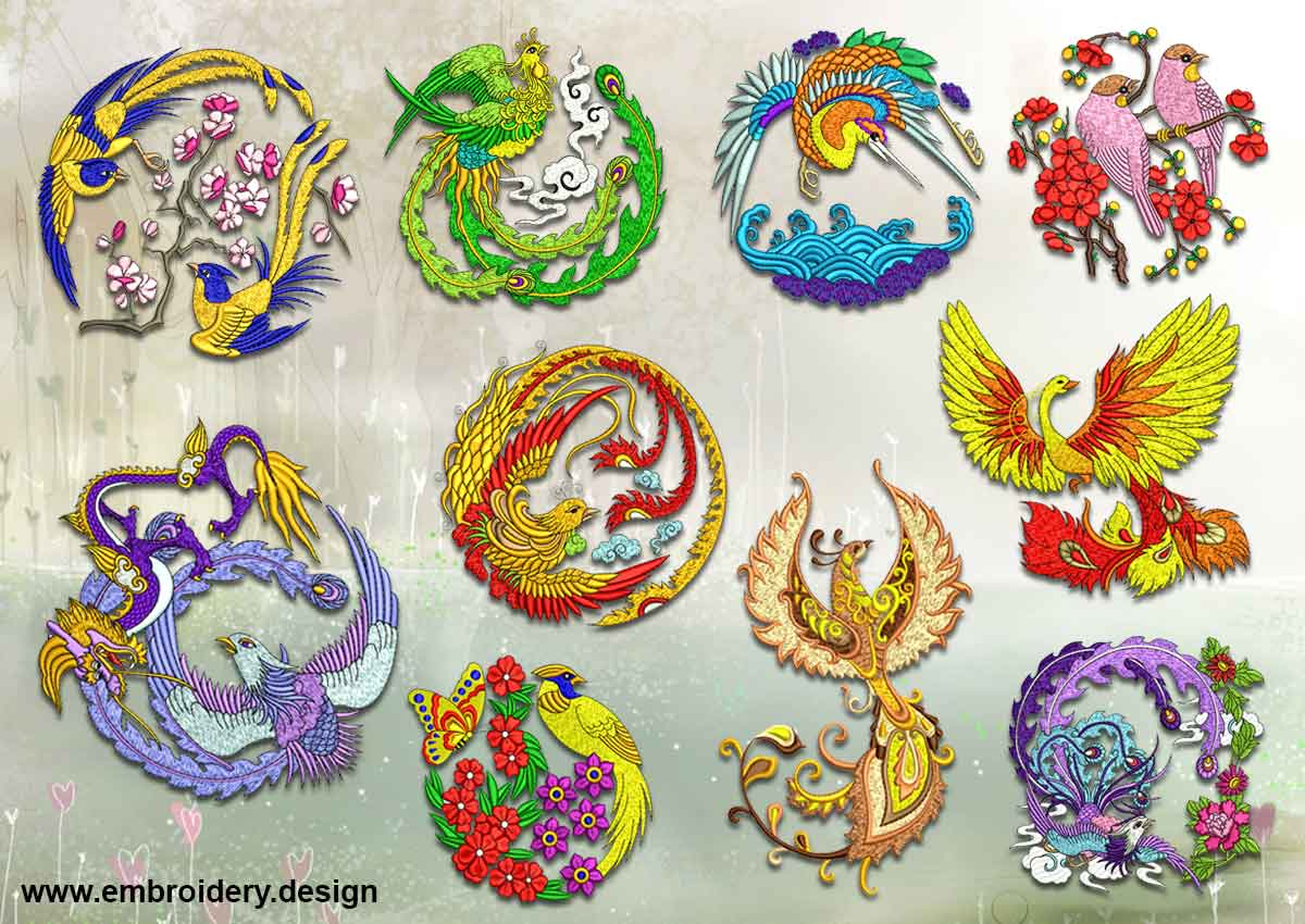 Variety Of Birds Embroidery Designs Pack Collection Of 10 Www