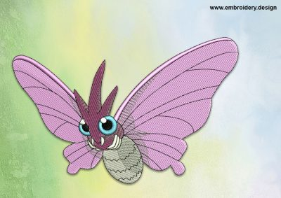 The embroidery design Venomoth Pokemon
