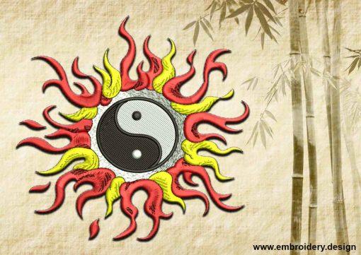 This Yin Yang in flames