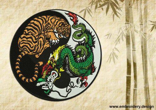 This Yin Yang symbol and Tiger with Dragon
